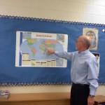 Tom McGoldrick teaching at Valley Middle School (photo courtesy of Karen Drury)