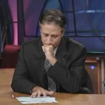 Jon Stewart delivering his post 9/11 speech