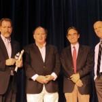 Kevin Flynn, Jim Dwyer, Tom Lueck, Tom Franklin after 9/11 panel. PHOTO/Eileen Tracy